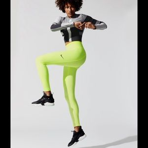 Nike Neon Highlighter Tech Pack running tights NWT